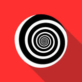 Spiral icon in flat style Royalty Free Stock Photography