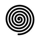 Spiral icon. Outline modern design element. Simple black flat vector sign with rounded corners Stock Photo