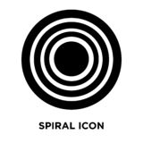 Spiral icon vector isolated on white background, logo concept of. Spiral sign on transparent background, filled black symbol stock illustration