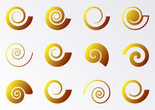Spiral icons Stock Photography