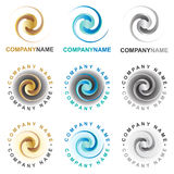 Spiral icons and logo design elements Royalty Free Stock Photos