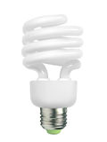 Spiral ight bulb Stock Photography