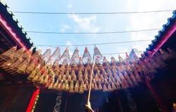 Spiral Incense in Buddhist Pagoda Saigon, Vietnam Royalty Free Stock Images