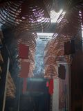 Spiral Incense sticks in temple.  Royalty Free Stock Photography