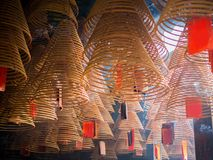 Spiral Incense sticks in temple.  Royalty Free Stock Photos