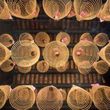 Spiral incense in the temple of Ho Chi Minh City Royalty Free Stock Photography