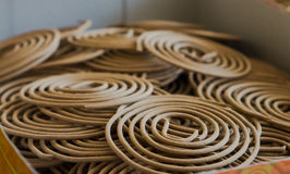 Spiral incense texture in Chinese temple Royalty Free Stock Photos