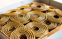 Spiral incense texture in Chinese temple Stock Images
