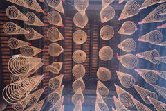 Spiral Incense at Thien Hau Temple in Ho Chi Minh City, Vietnam Stock Image