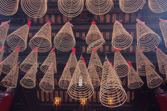 Spiral Incense at Thien Hau Temple in Ho Chi Minh City, Vietnam Stock Images