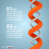 Spiral infographic elements with numbers Stock Images