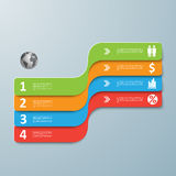 Spiral infographics options banner Royalty Free Stock Photo