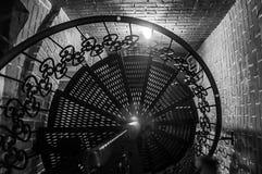 Spiral järntrappa Royaltyfri Fotografi