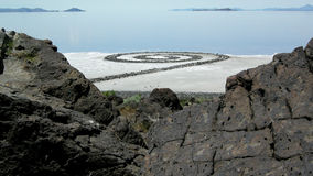 The Spiral Jetty on the Great Salt Lake Royalty Free Stock Photos