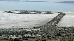 The Spiral Jetty on the Great Salt Lake Stock Photos