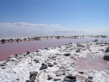 Spiral Jetty inner rim Royalty Free Stock Images