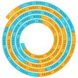 spiral kalender 2015 stock illustrationer