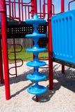 Spiral klättringstruktur för lekplats Arkivbild