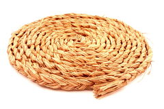 Spiral knotted rope Royalty Free Stock Photo
