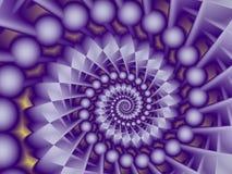 Spiral konstruktion Arkivfoton