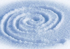 Spiral labyrinth. The spiral labyrinth on a snow Royalty Free Stock Photo