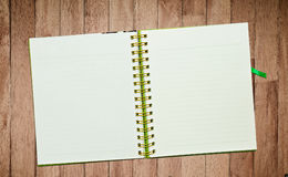 Spiral leather notebook Royalty Free Stock Images