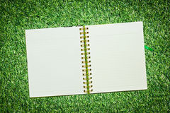 Spiral leather notebook Stock Photography