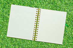 Spiral leather notebook Stock Images