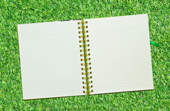 Spiral leather notebook Royalty Free Stock Photography