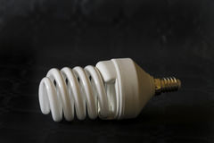 Spiral light bulb. Royalty Free Stock Images