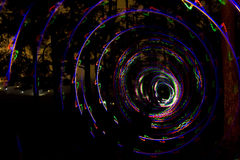Spiral of light Stock Images