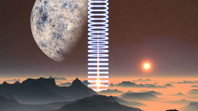 Spiral Light And Sunrise On An Alien Planet stock footage