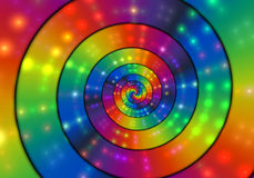 Spiral Through Lights Royalty Free Stock Photos