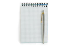 Spiral lined notebook Stock Images