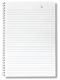 Spiral lined notebook. Isolated on white Royalty Free Stock Photo