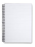 Spiral lined notebook