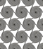 Spiral lines monochrome seamless pattern Royalty Free Stock Image