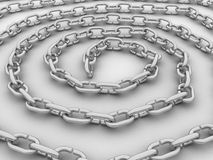 Spiral link in the chain, the chain of steel №3 Royalty Free Stock Image