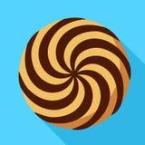 Spiral ljusbrun symbol, plan stil stock illustrationer