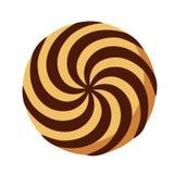 Spiral ljusbrun symbol, plan stil royaltyfri illustrationer