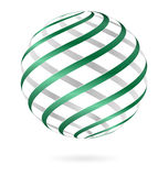 Spiral logo ball Royalty Free Stock Photos