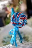 Spiral lollipop Stock Photos
