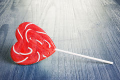 Spiral lollipop Royalty Free Stock Images