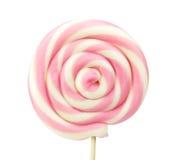Spiral lollipop on white background Stock Photos