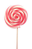 Spiral lollipop on white background Royalty Free Stock Images