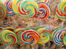 Spiral lollipops Stock Photos