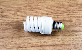 Spiral luminescent economical lamp Royalty Free Stock Image