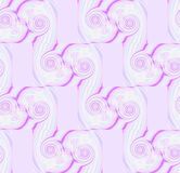 Spiral mönstrar i vit rosa violett purpurfärgad vit med lila rektanglar Arkivbilder