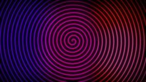 Spiral mörk bakgrundstapet för neon royaltyfri illustrationer