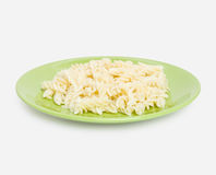 Spiral macaroni on plate Stock Images